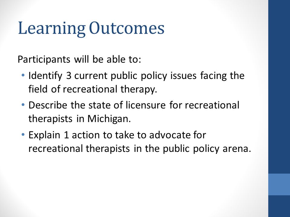 INTRODUCTIONS Experience with Public Policy