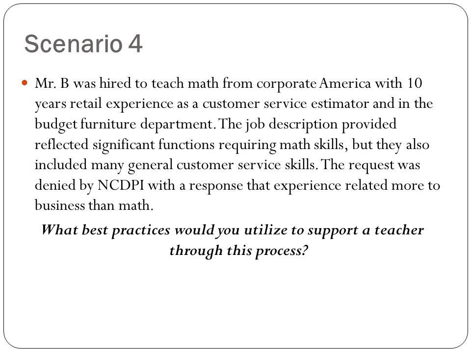 Scenario 4 Mr.