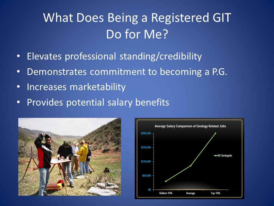 What Does Being a Registered GIT Do for Me.