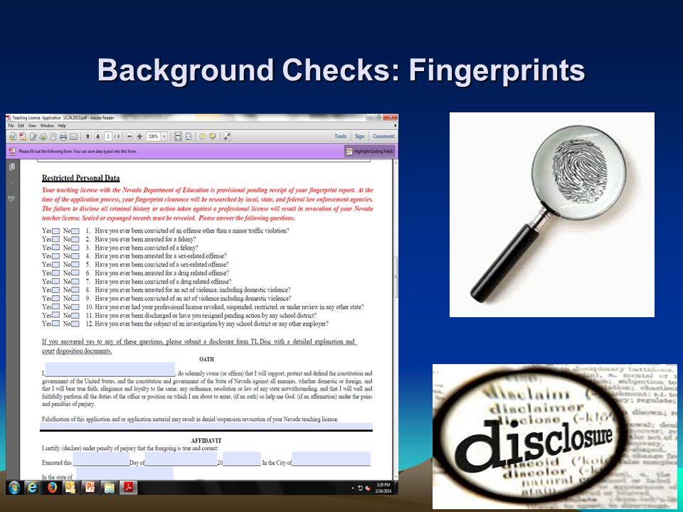 Background Checks: Fingerprints