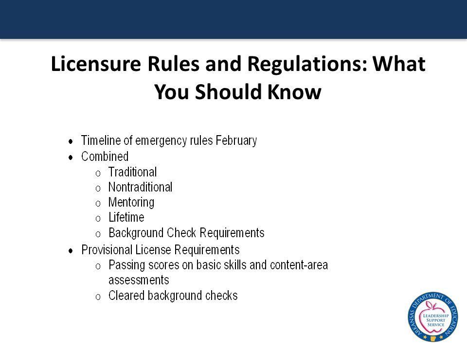 Licensure Rules and Regulations: What You Should Know