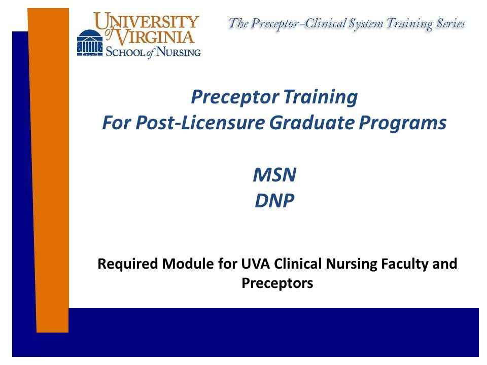 Preceptor Basic Check-list Course Syllabus Faculty contact information Student contact information Learning objectives for the student's experience