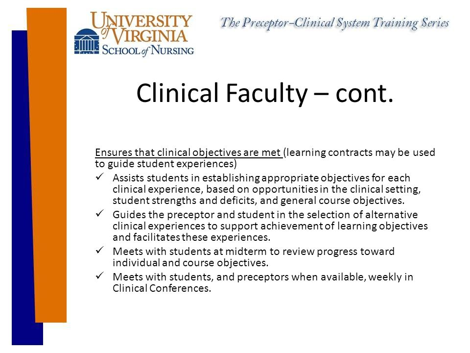 Clinical Faculty – cont.