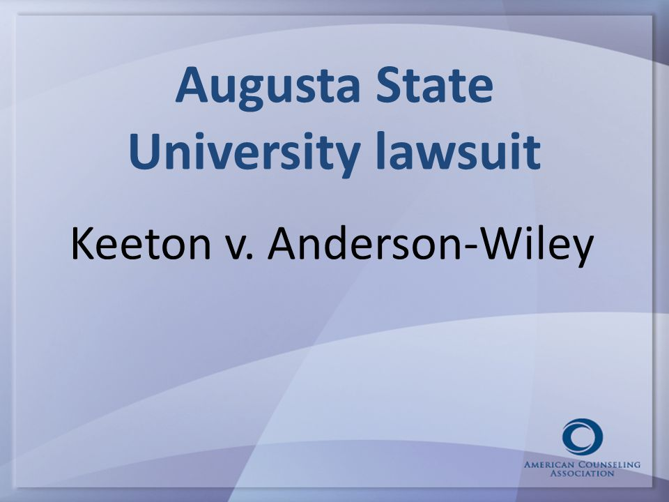 Augusta State University lawsuit Keeton v. Anderson-Wiley