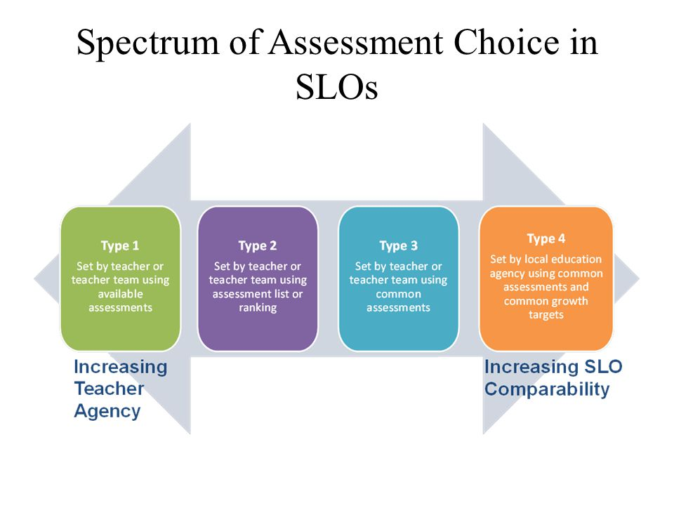 Spectrum of Assessment Choice in SLOs