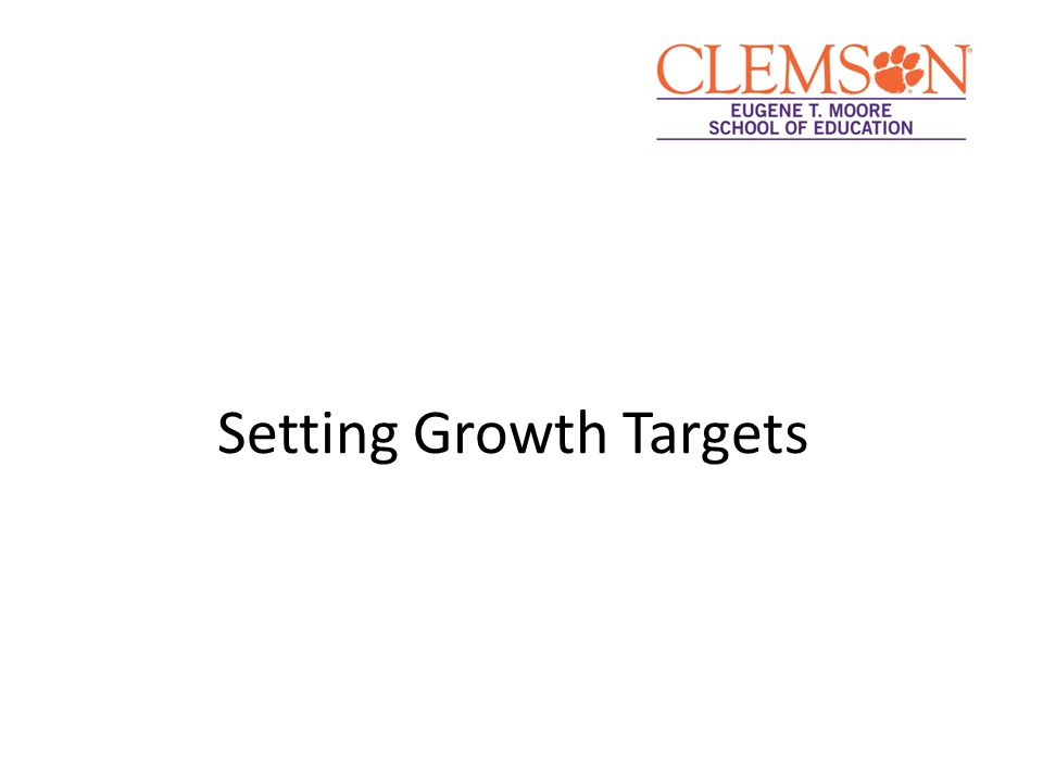 Setting Growth Targets