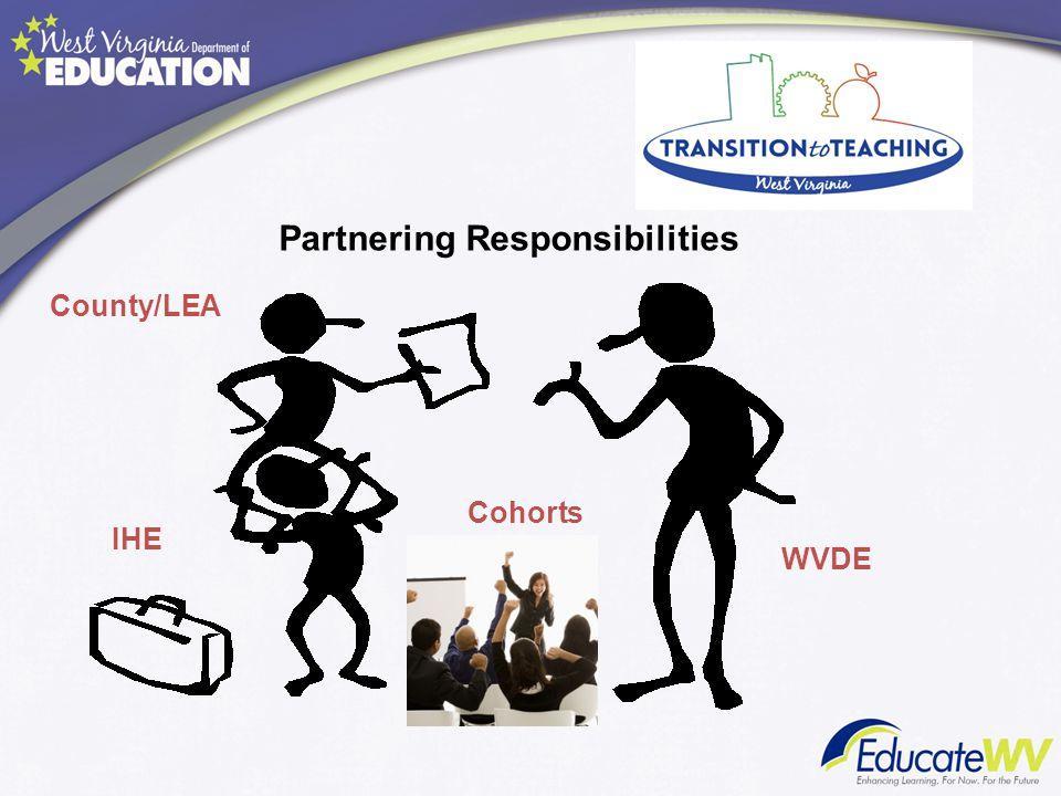 County/LEA Cohorts IHE WVDE Partnering Responsibilities