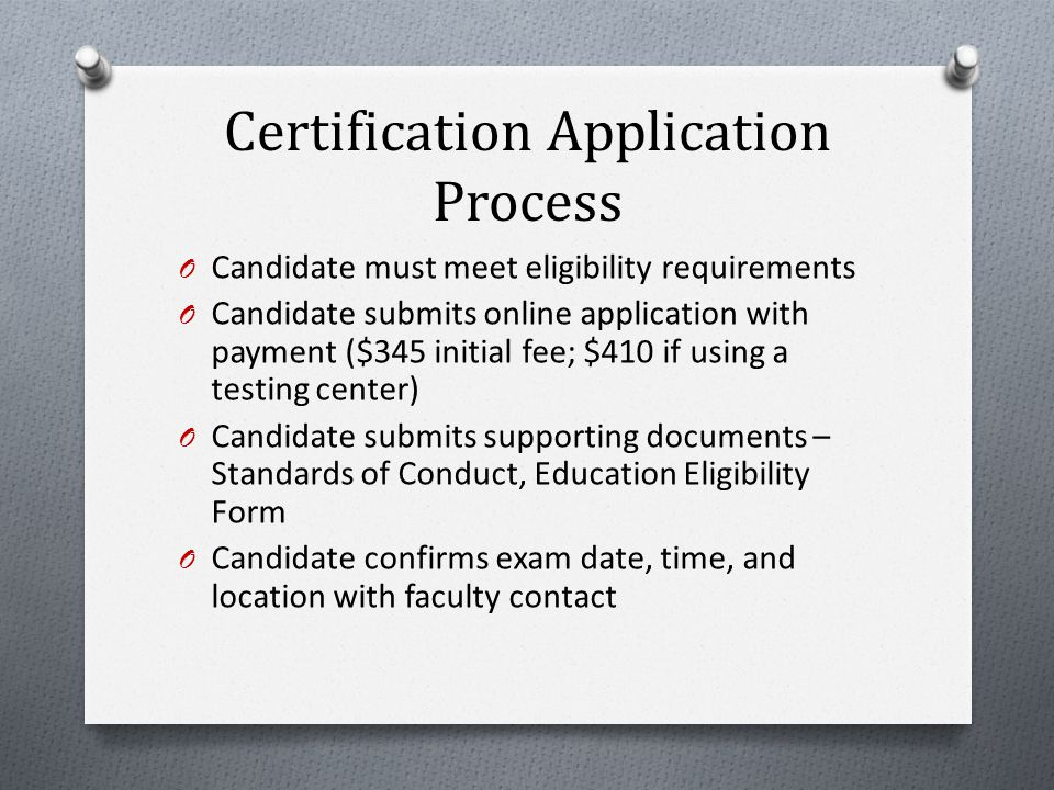 Exam Site Registration Program responsibilities: O Review Program Checklist O Submit the School of Nursing CNL Education Program Verification Form O Select exam date within CNC testing period O Submit the Site Registration form to CNC O Notify examinee(s) of exam date/time and location