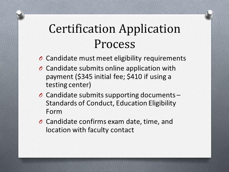 Exam Site Registration Program responsibilities: O Review Program Checklist O Submit the School of Nursing CNL Education Program Verification Form O S