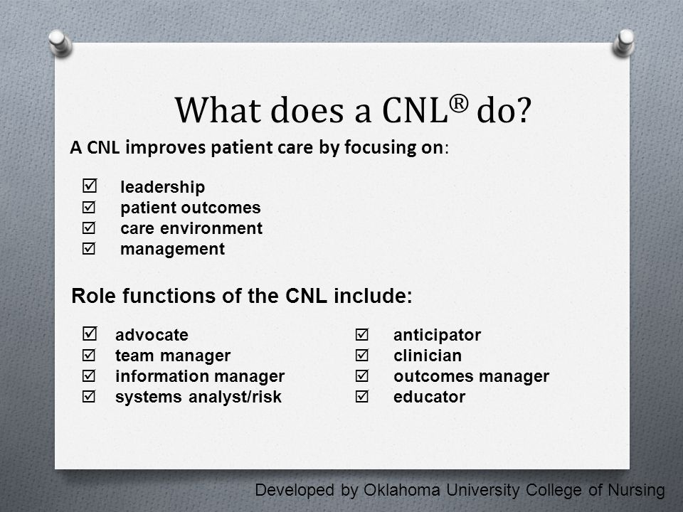 What is a CNL ® .