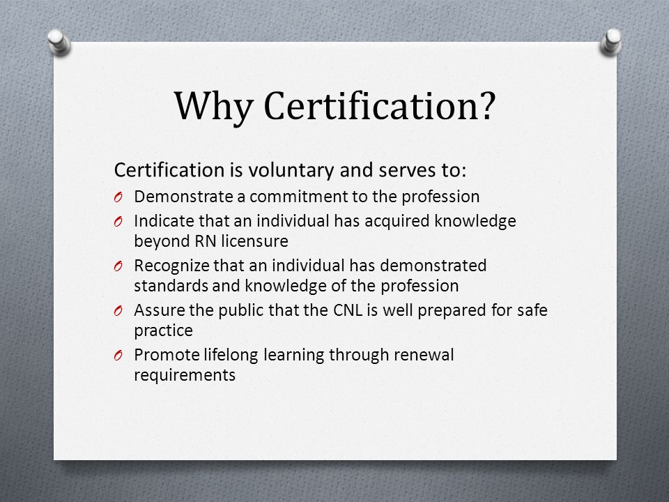 Why Certification.
