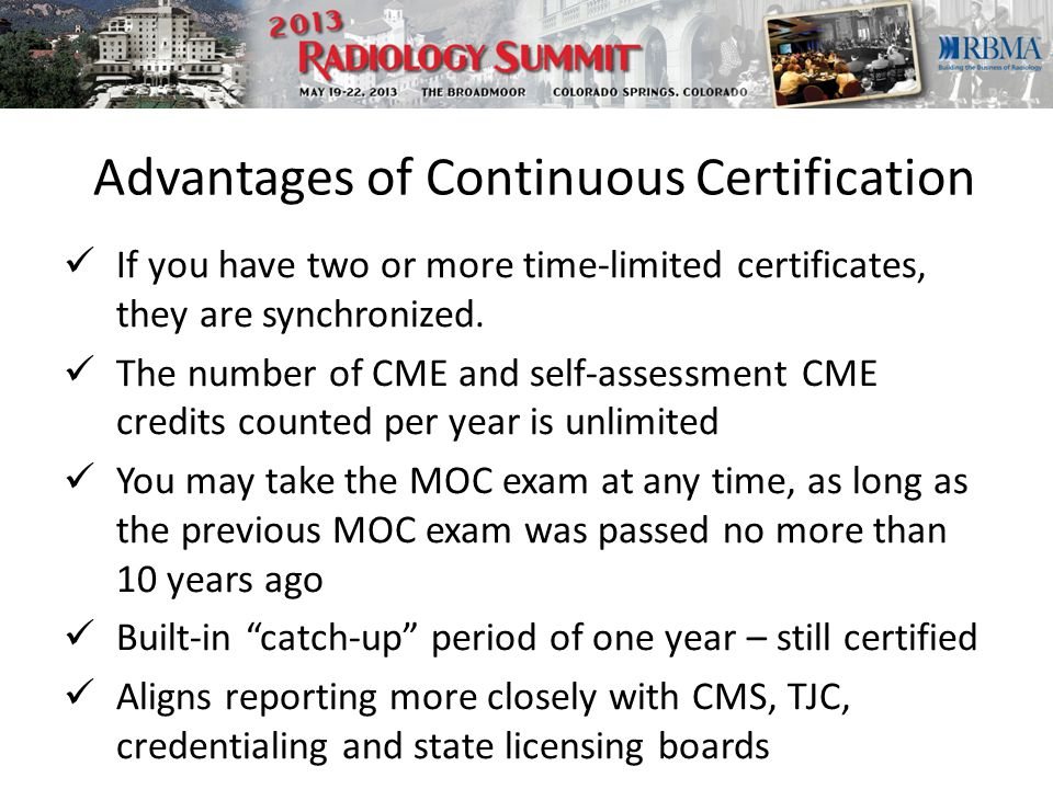 Advantages of Continuous Certification If you have two or more time-limited certificates, they are synchronized.