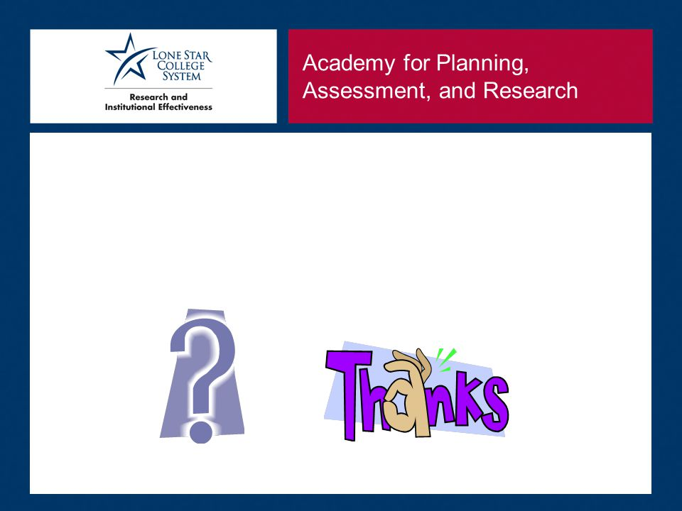 Academy for Planning, Assessment, and Research