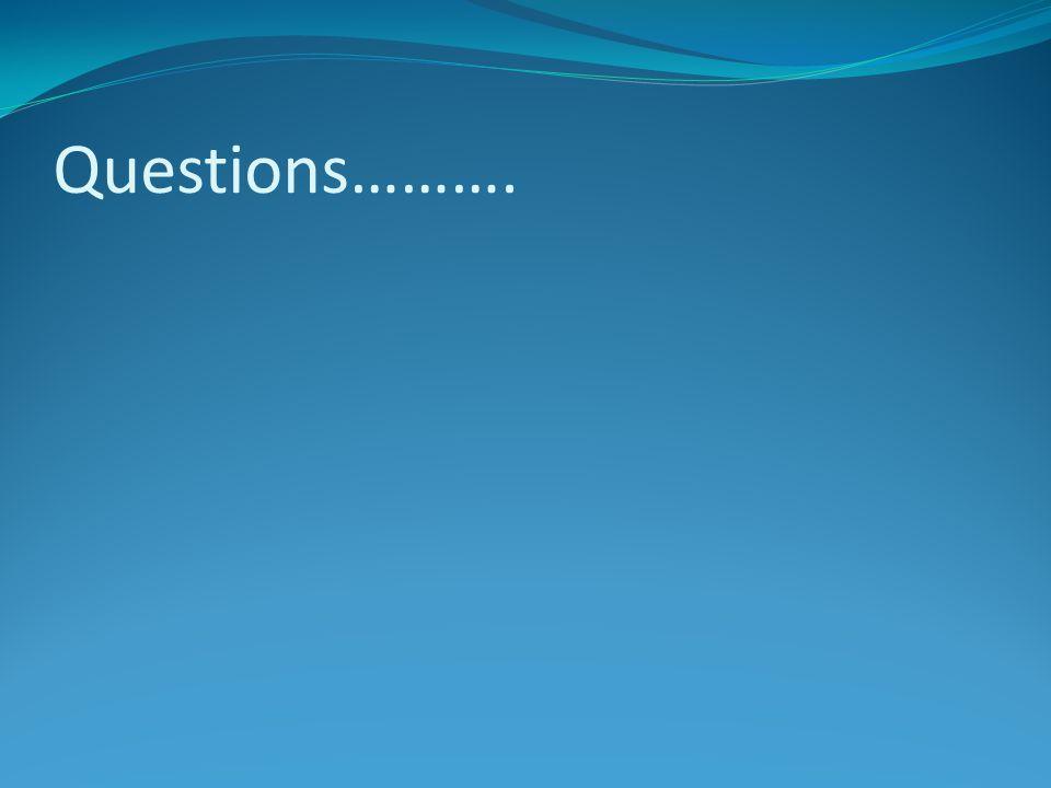 Questions……….