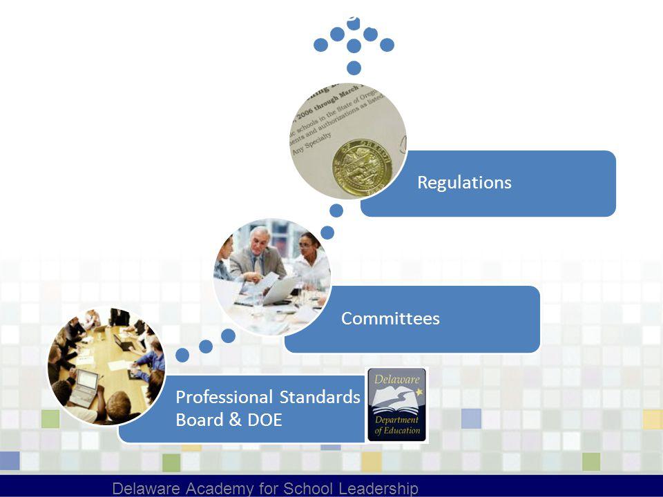 Professional Standards Board & DOE CommitteesRegulations Delaware Academy for School Leadership Process