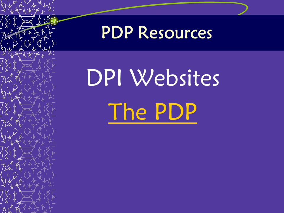 PDP Resources DPI Websites The PDP