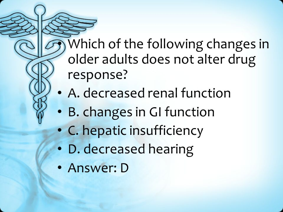 Which of the following changes in older adults does not alter drug response.