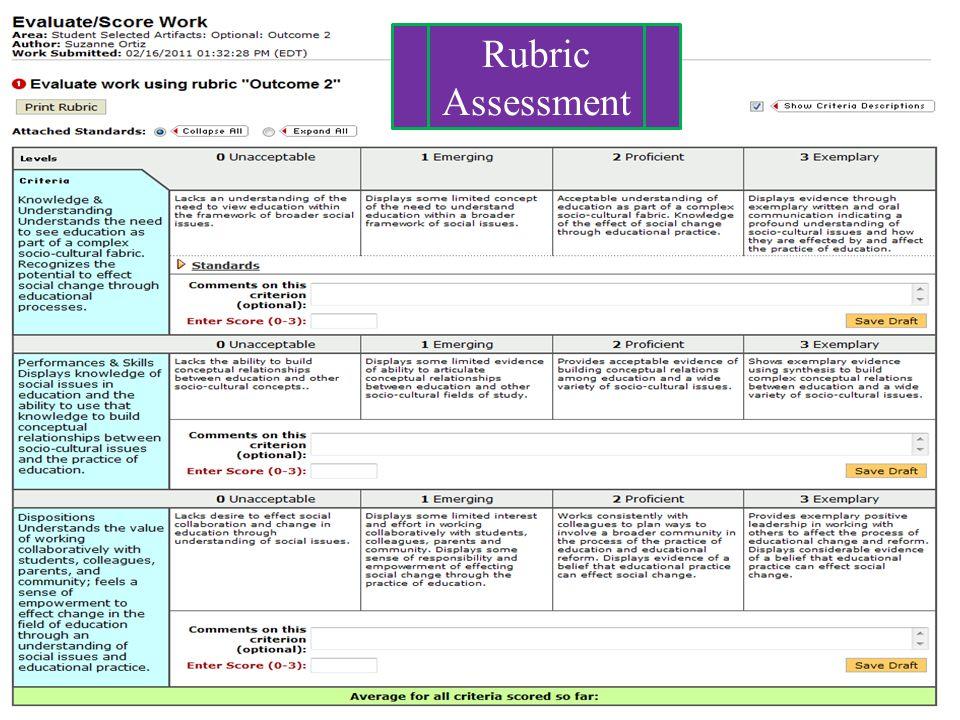 Rubric Assessment