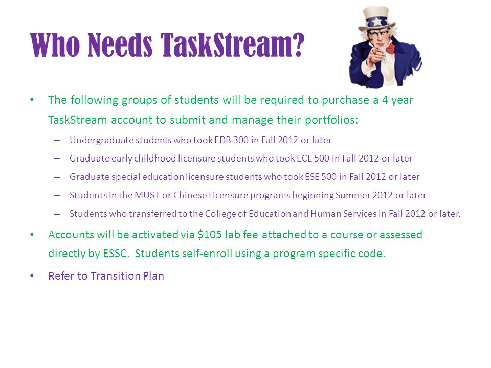 Who Needs TaskStream.