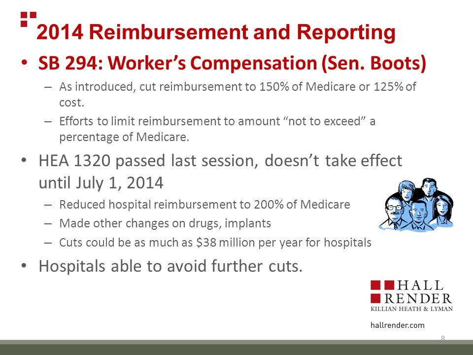 2014 Reimbursement and Reporting SB 294: Worker's Compensation (Sen.
