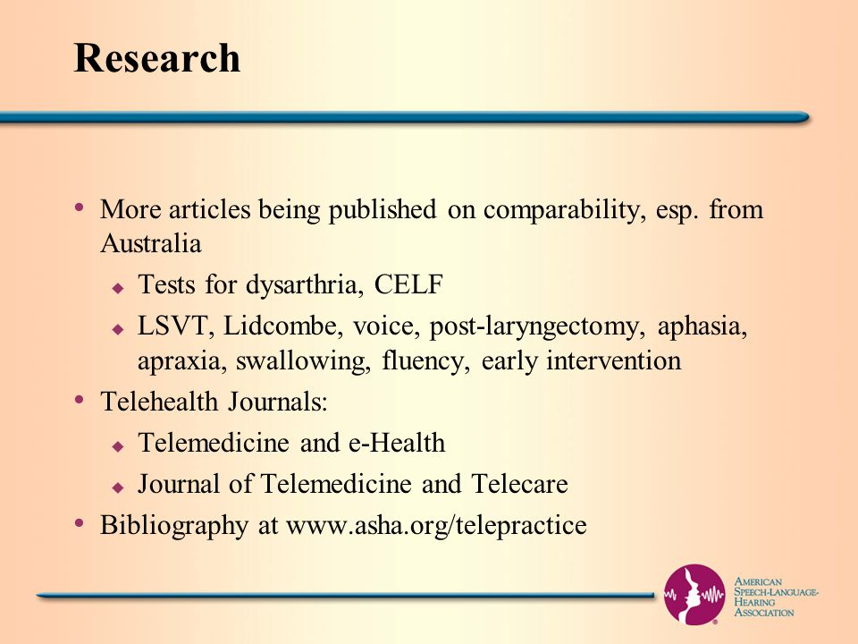 Research More articles being published on comparability, esp.