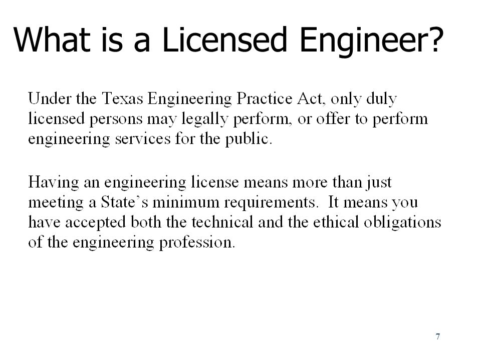 Why Should I Become Licensed.