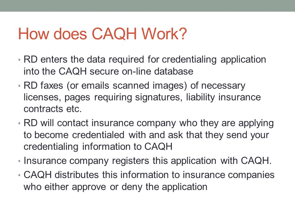 How does CAQH Work.