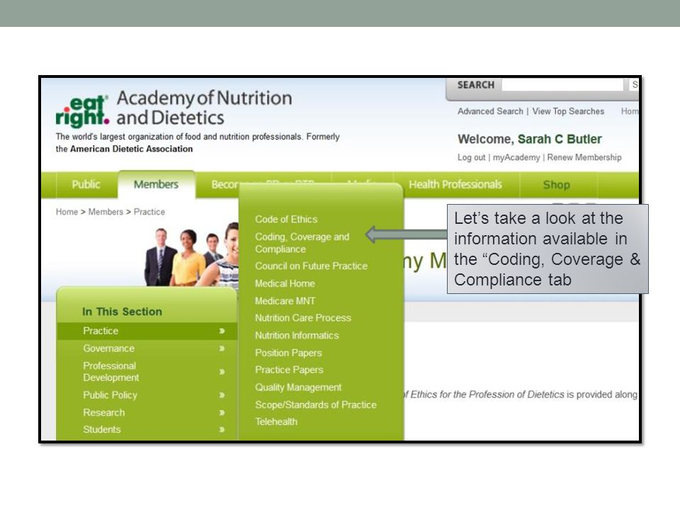 Let's take a look at the information available in the Coding, Coverage & Compliance tab