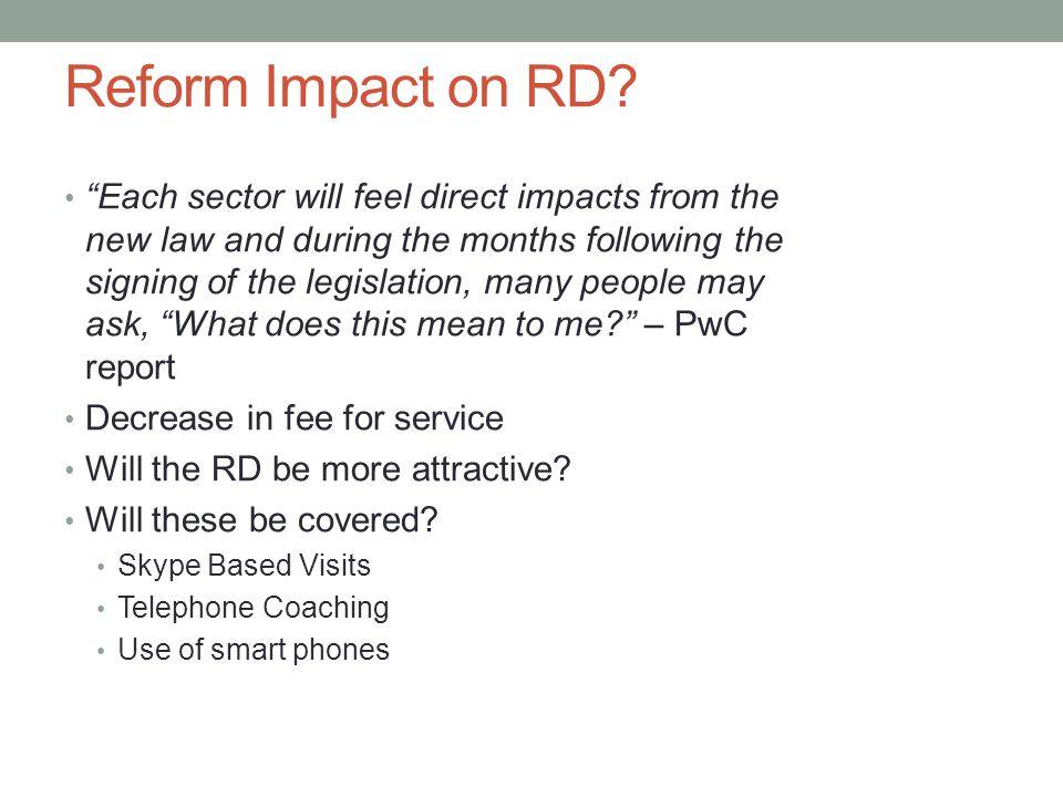 Reform Impact on RD.