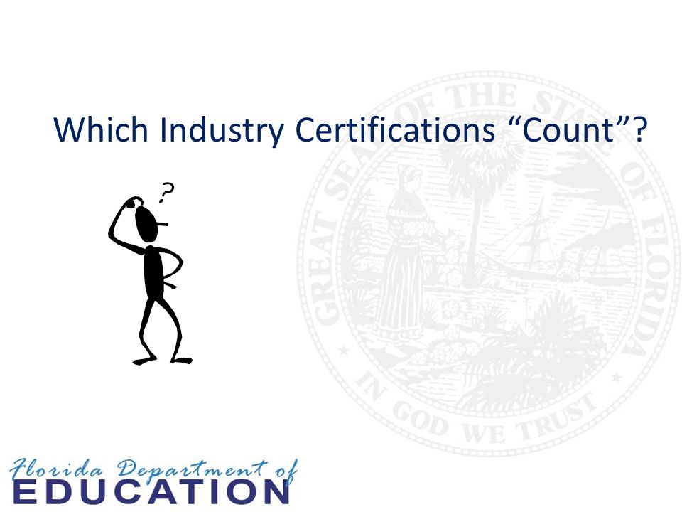 Which Industry Certifications Count