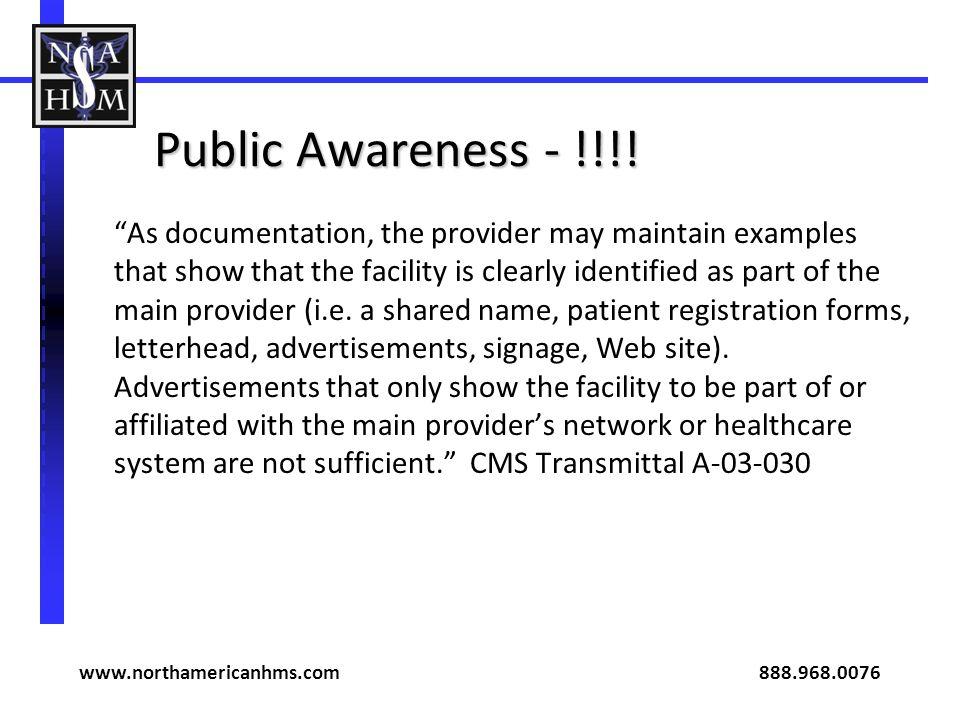 Public Awareness - !!!.