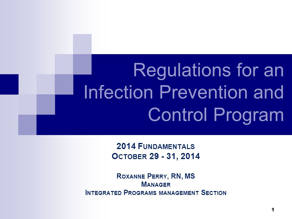 32 Hospital Infection Prevention/Control A-0748 482.42(a) Standard: Organization and Policies A person or persons must be designated as infection control officers to develop and implement policies governing control of infections and communicable diseases….
