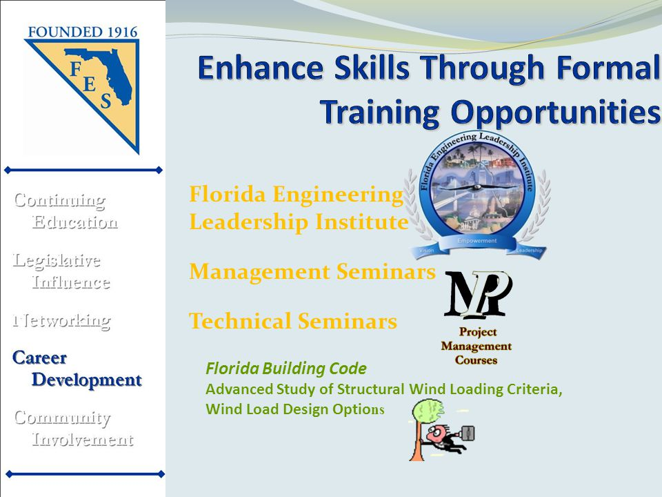 Florida Engineering Leadership Institute Management Seminars Technical Seminars Florida Building Code Advanced Study of Structural Wind Loading Criteria, Wind Load Design Optio ns