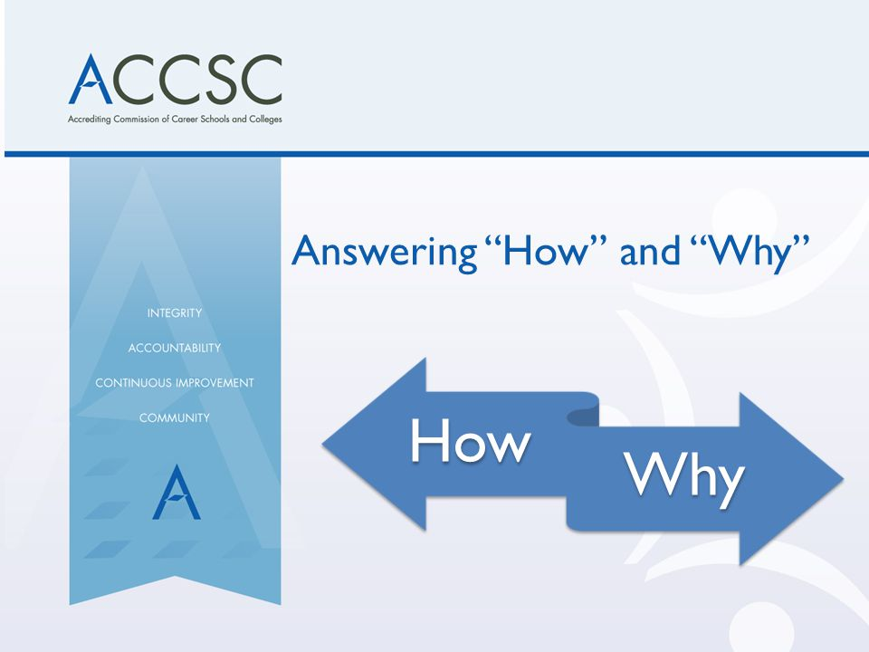 "Answering ""How"" and ""Why"""