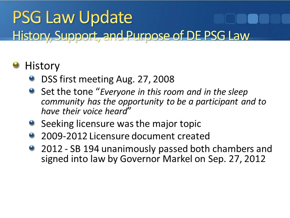 History DSS first meeting Aug.