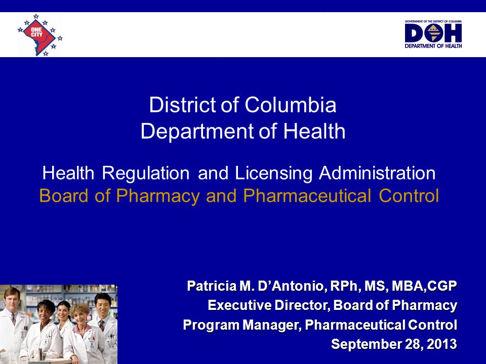 District of Columbia Department of Health Patricia M.