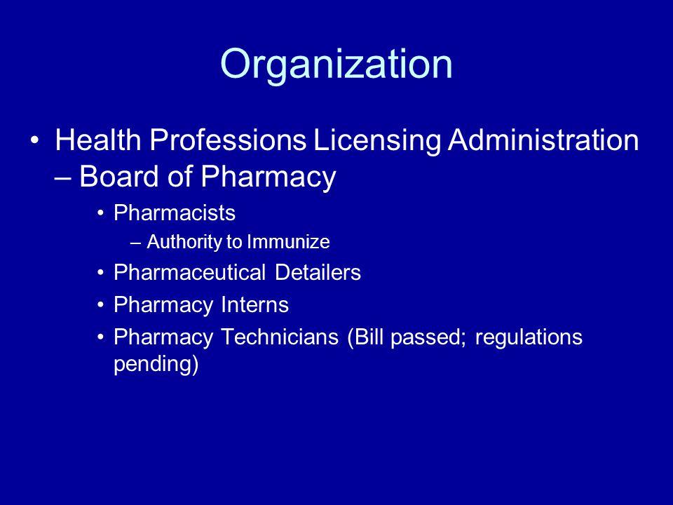 Future Clarification of Student Intern requirements Prescription Drug Monitoring Program Manufacturer/Distributor Regulations Compounding Regulations