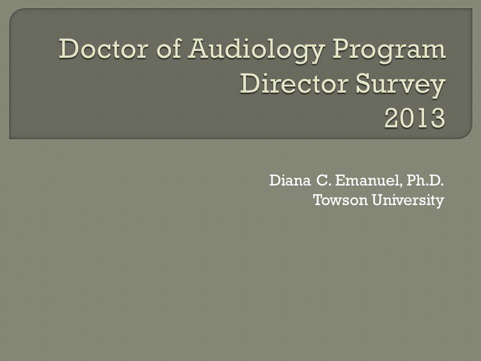 Diana C. Emanuel, Ph.D. Towson University