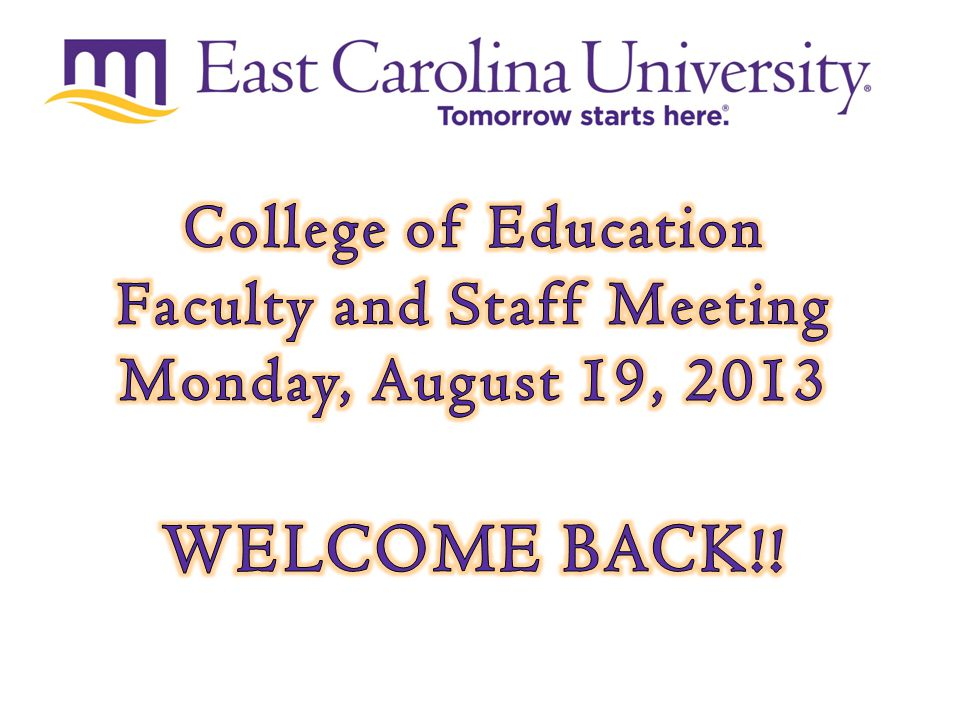 Tomorrow starts here.Dr. Charity Cayton, Assistant Professor Ms.