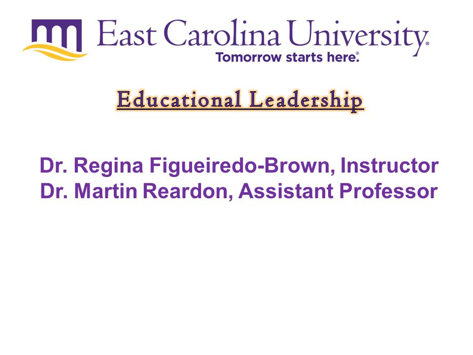 Tomorrow starts here. Dr. Regina Figueiredo-Brown, Instructor Dr.