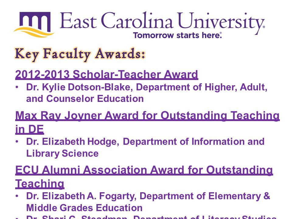 2012-2013 Scholar-Teacher Award Dr.