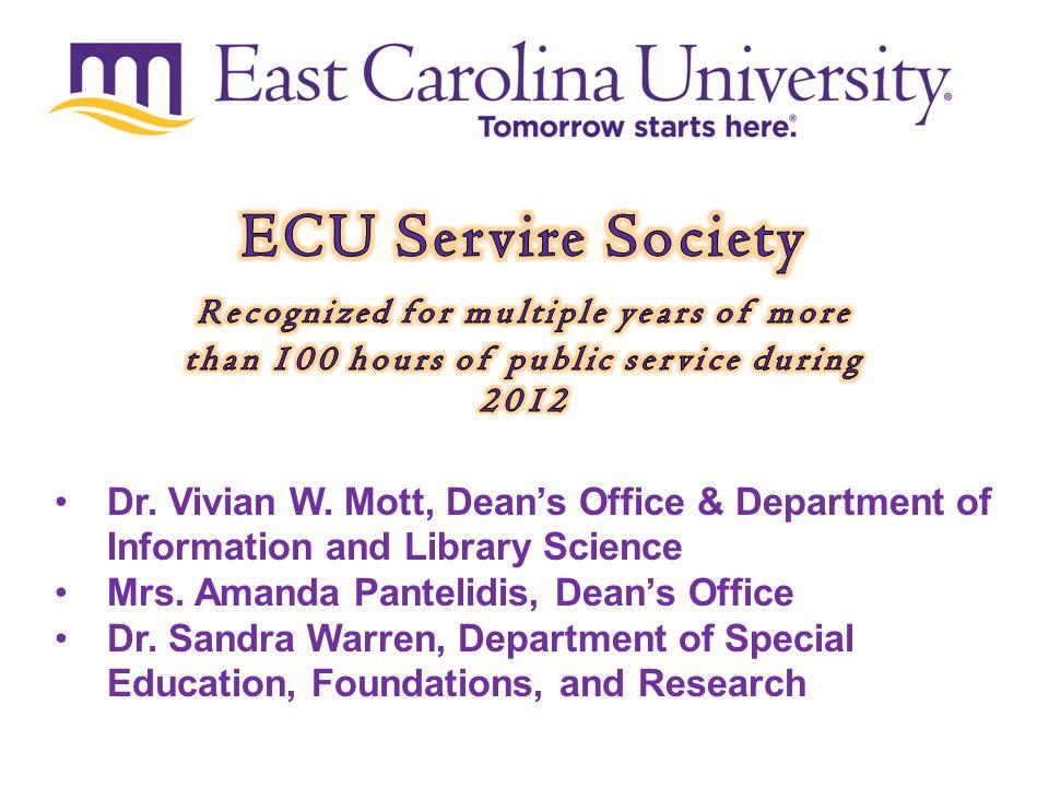 Tomorrow starts here. Dr. Vivian W.