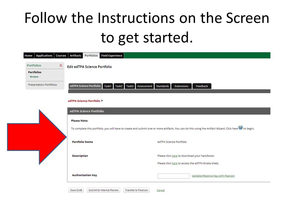 Follow the Instructions on the Screen to get started.