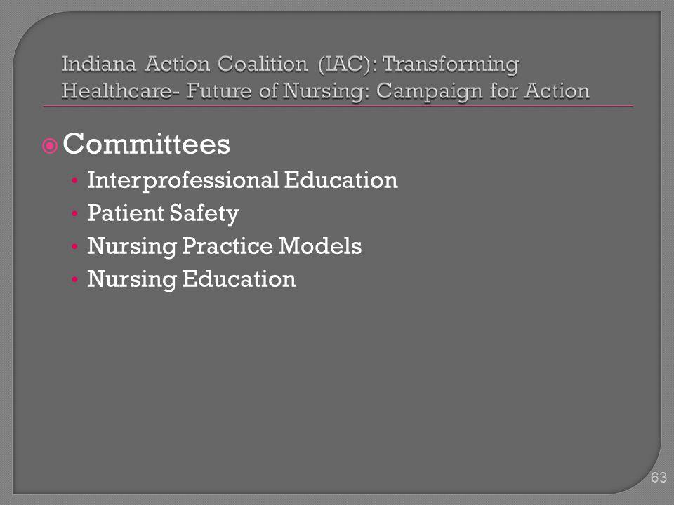  Committees Interprofessional Education Patient Safety Nursing Practice Models Nursing Education 63