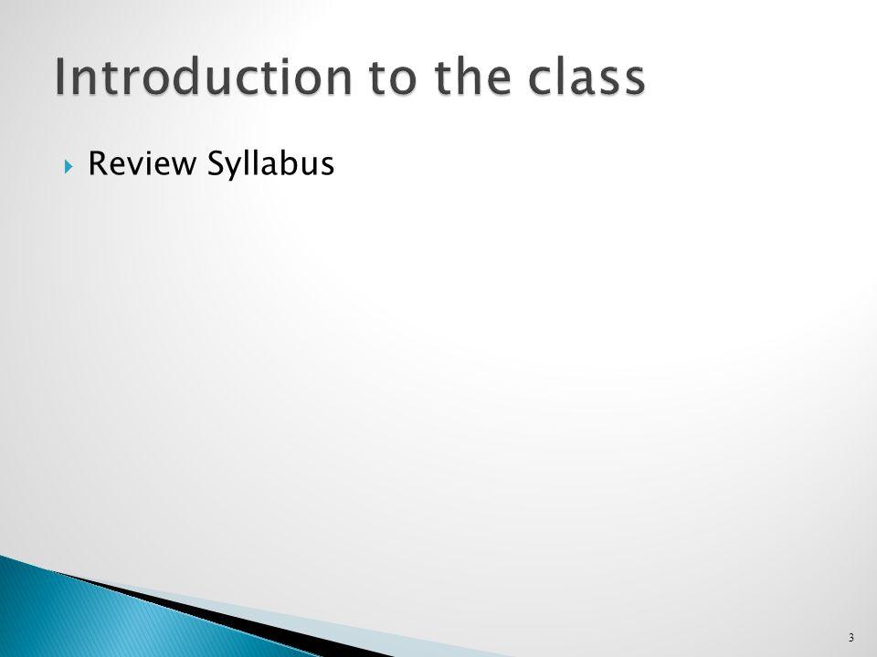  Review Syllabus 3