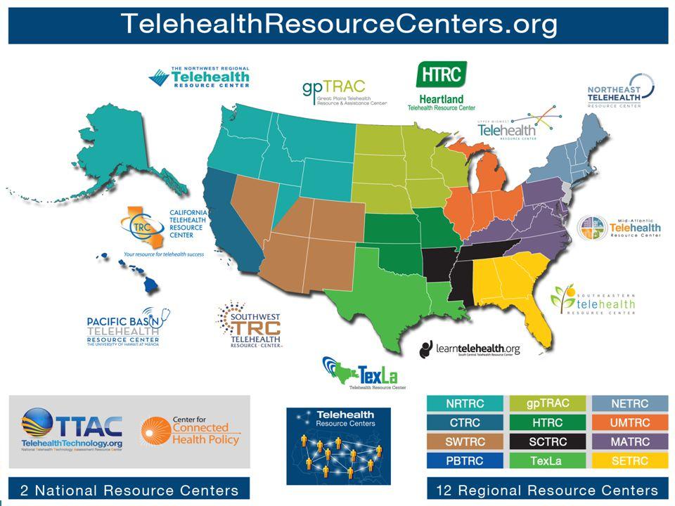 telehealthresourcecenters.org Links to all TRCs National Webinar Series Reimbursement, Marketing, and Training Tools
