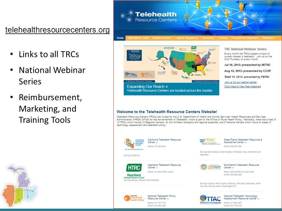 UMTRC Resources IL Telemedicine Reimbursement Summary: http://www.umtrc.org/resources/payers- reimbursement/2013-illinois-telemedicine- reimbursement-summary/?back=Resources