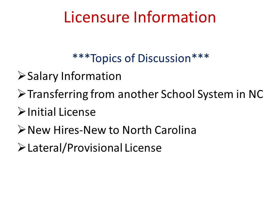 Licensure Elementary- Donna Hayek Email: dhayek@wsfcs.k12.nc.us 336-727-2322 Middle/High School- Sherri Gilliam Email: shgilliam@wsfcs.k12.nc.us 336-7