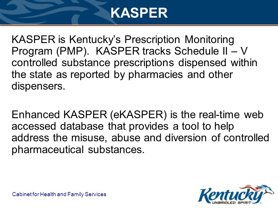 Status of Prescription Drug Monitoring Programs (PDMPs) Research is current as of February 1, 2012 AK AL AR CA CO ID ILIN IA MN MO MT NE NV ND OH OK OR TN UT WA AZ SD NM VA WY MI GA KS HI TX ME MS WI NY PA LA KY NC SC FL NH MA RI CT NJ DE MD DC VT WV Operational PDMPs Enacted PDMP legislation, but program not yet operational Legislation pending GU