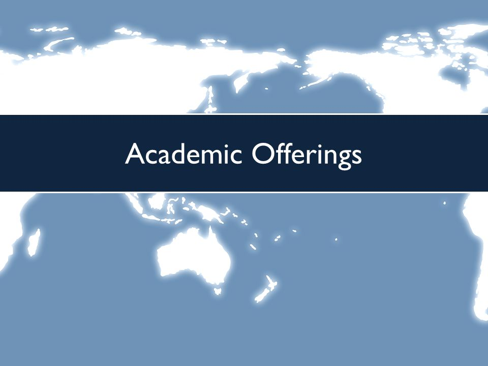 Academic Offerings